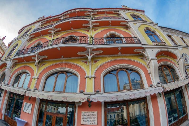 Hotelowy Astoria Sztarill poprzedni pałac lokalizować w Ferdinand Squa fotografia royalty free