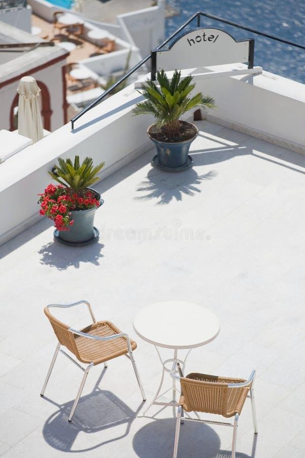Hotelowy balkon zdjęcie royalty free