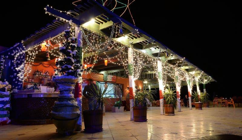 Hotelowy bar przy nocą zdjęcia royalty free
