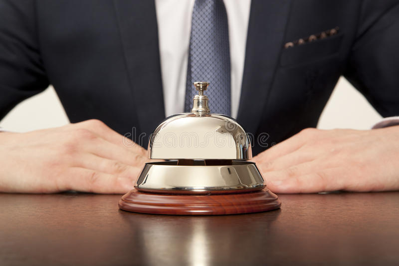 Hotelowy Concierg zdjęcie royalty free