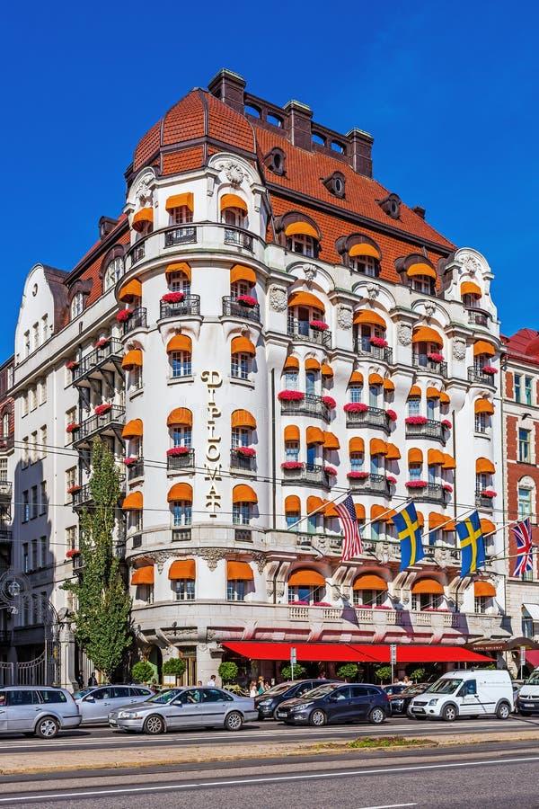 Hotelowy dyplomata na Strandvagen obrazy royalty free