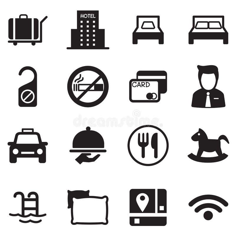 Hotelowy ikona set ilustracja wektor