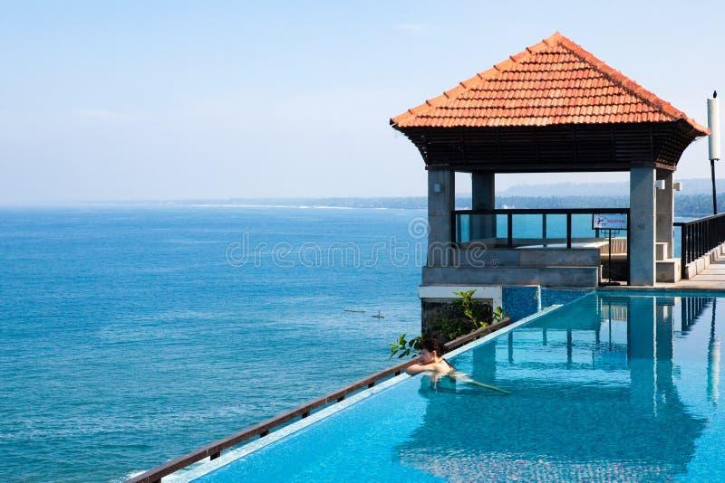 hotelowy ind basenu kurortu dopłynięcie obraz royalty free