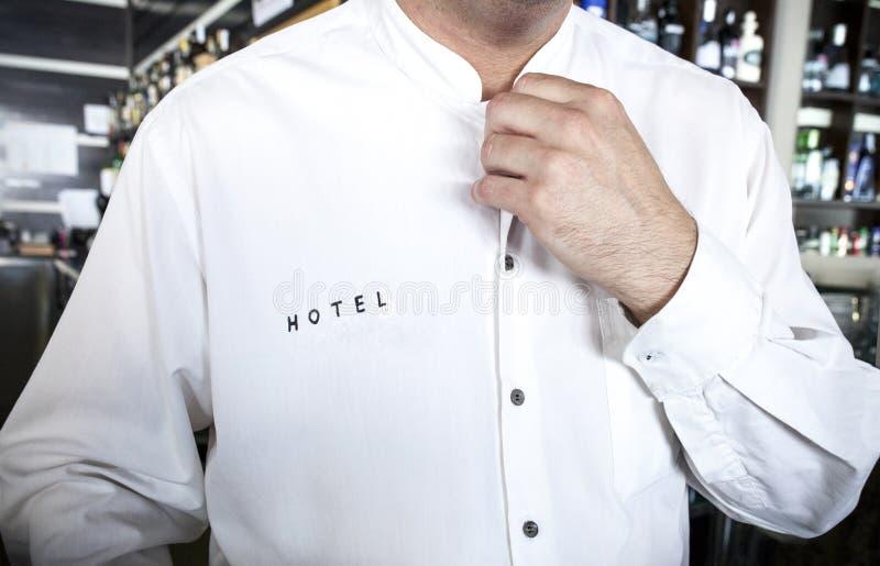 hotelowy kelner Baczny usługowy pojęcie fotografia stock