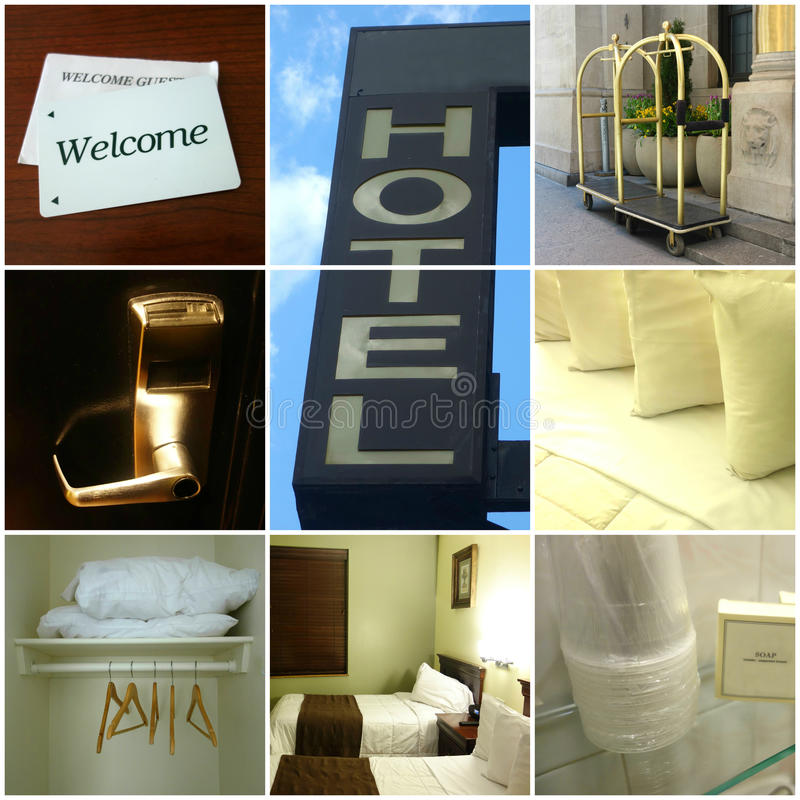 Hotelowy kolaż fotografia stock