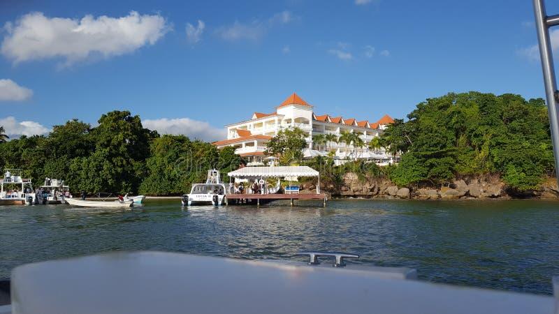 Hotelowy kurortu Cayo Levantado Samanà ¡ zdjęcie stock