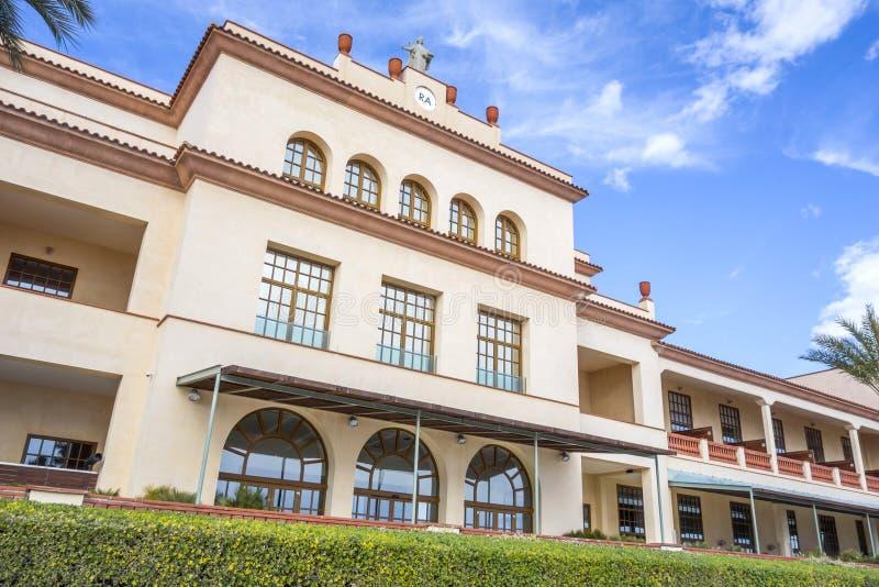 Hotelowy Le Meridien Akademia Królewska plaży hotel & zdrój, zewnętrzny budynek, marit zdjęcia royalty free