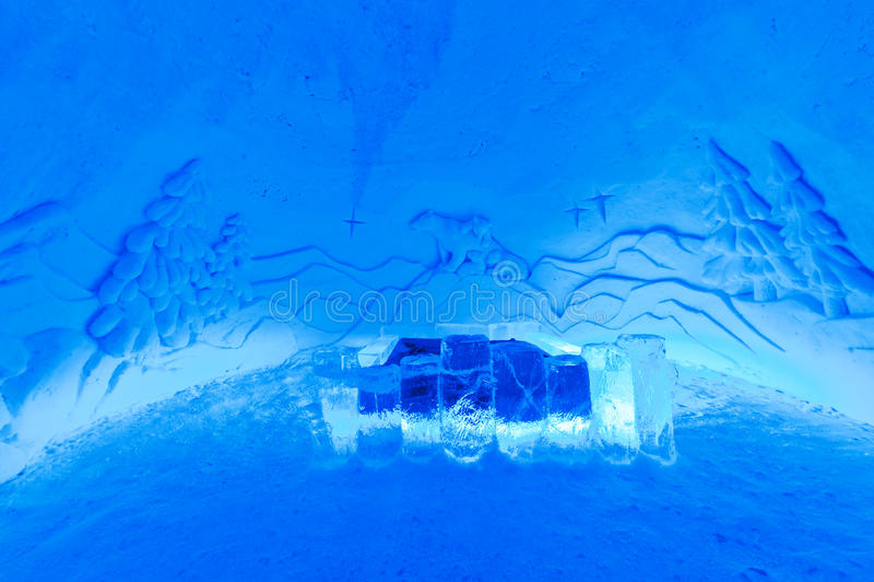 hotelowy lodowy pokój zdjęcie stock
