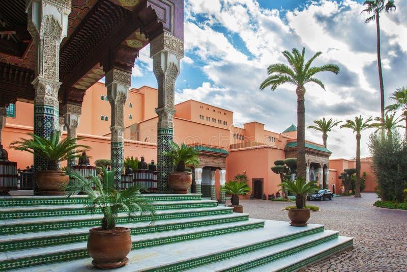 Hotelowy los angeles Mamounia Marrakech obrazy royalty free