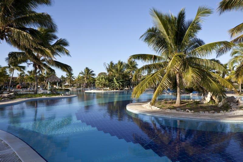 hotelowy luksusowy basenu kurortu dopłynięcie obraz stock