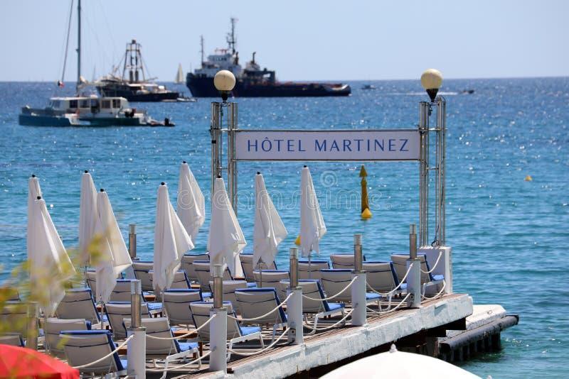 Hotelowy Martinez molo w Cannes Francja obraz stock