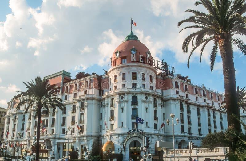 Hotelowy Negresco w Ładnym zdjęcie stock