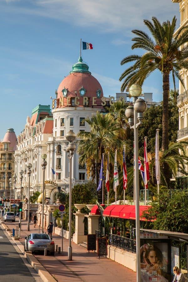 Hotelowy Negresco w Ładnym, Francja zdjęcia stock