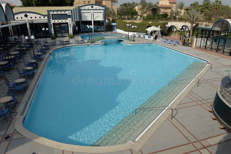 Hotelowy pływacki basen obraz royalty free