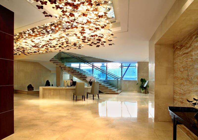 Hotelowy recepcyjny biurko zdjęcia royalty free