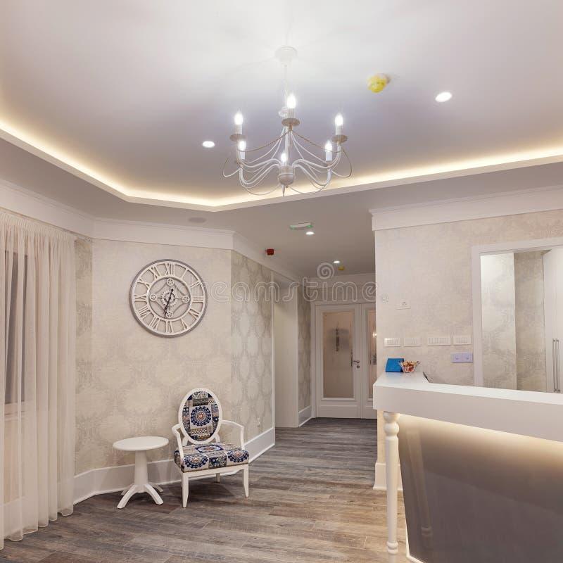 Hotelowy Recepcyjny wnętrze zdjęcia royalty free