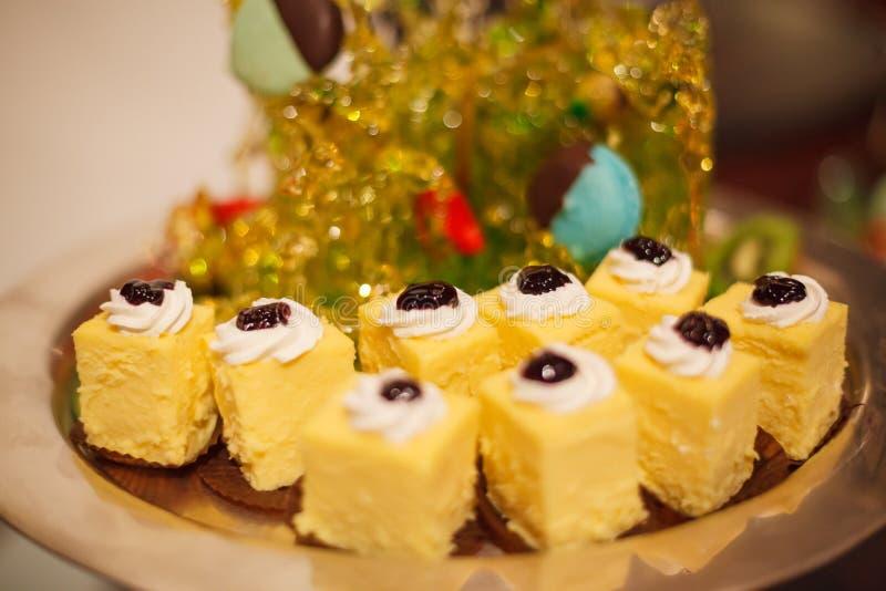 Hotelowy restauracyjny karmowy catering usługa bufeta bankiet dla ślubnych ceremonii, konwersatoriów, spotkań, konferencj, przyję zdjęcia royalty free