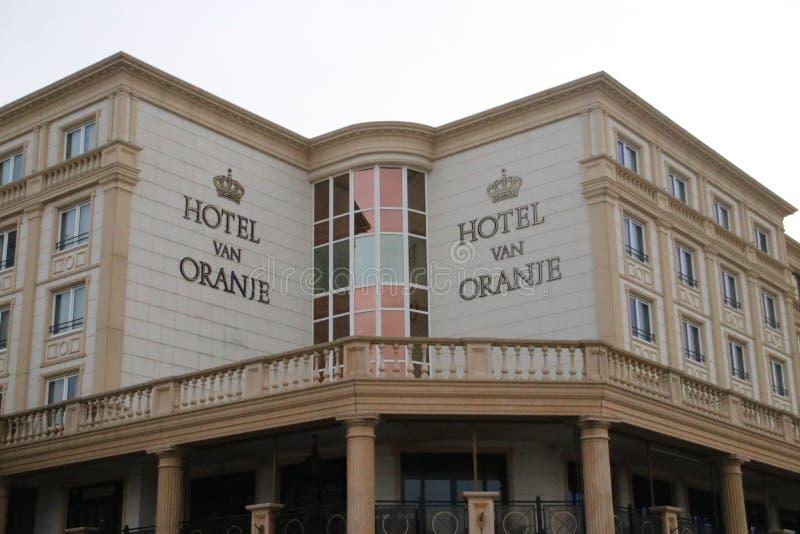 Hotelowy Samochód dostawczy Oranje, hotel pomarańcze jako wysokiego społeczeństwa miejsce przy nadmorski w Noordwijk obrazy stock
