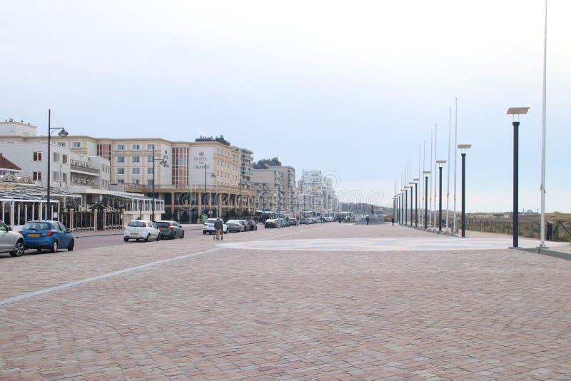 Hotelowy Samochód dostawczy Oranje, hotel pomarańcze jako wysokiego społeczeństwa miejsce przy nadmorski w Noordwijk zdjęcia stock