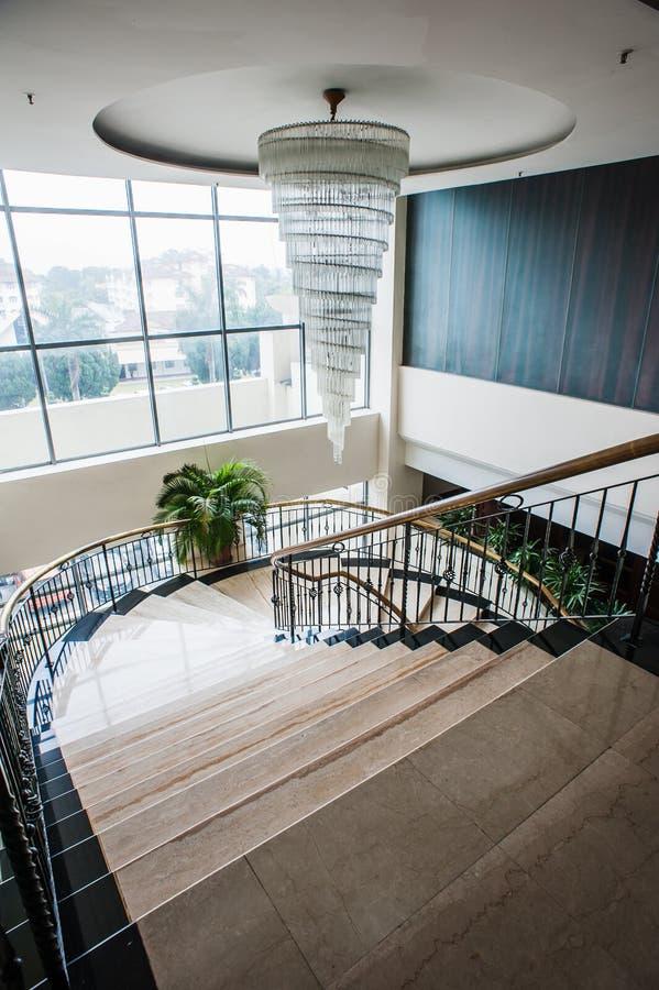 Hotelowy schody zdjęcia royalty free