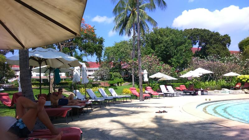 Hotelpool royalty-vrije stock afbeelding