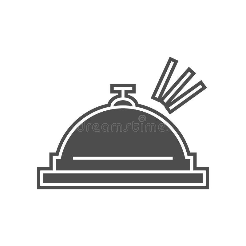 Hotelringikone Element von minimalistic f?r bewegliches Konzept und Netz Appsikone Glyph, flache Ikone f?r Websiteentwurf und Ent vektor abbildung