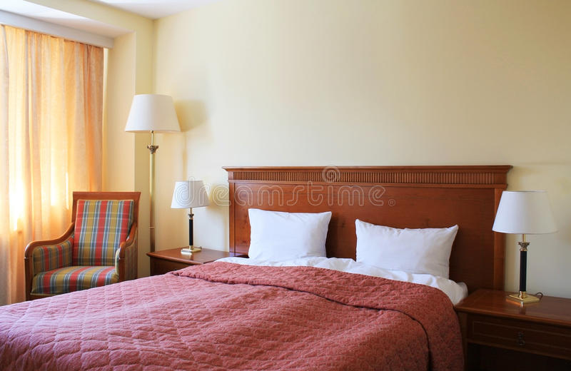 Hotelruimte royalty-vrije stock afbeelding