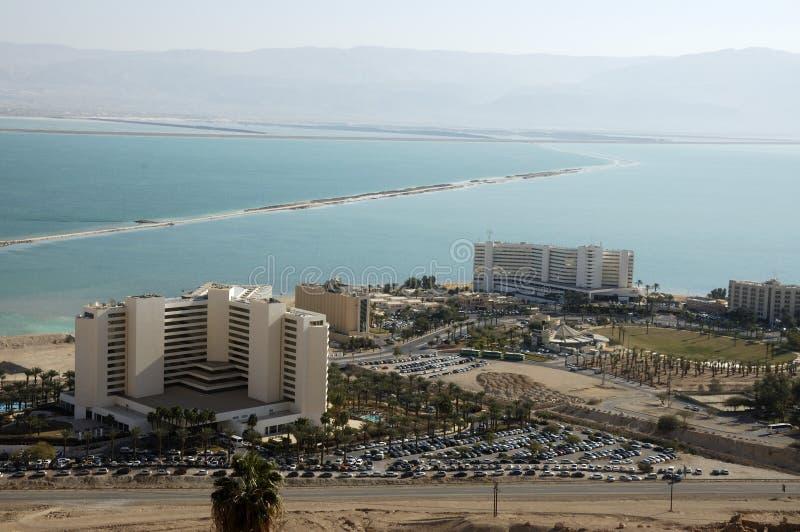 Hotels auf Totem Meer. stockfotografie