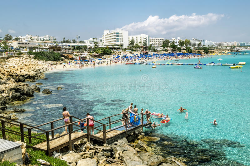Hotels And Beach At Fig Tree Bay In Protaras Cyprus