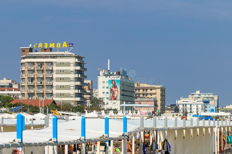Hotels by the beach, Italy, Riccone royalty free stock photography