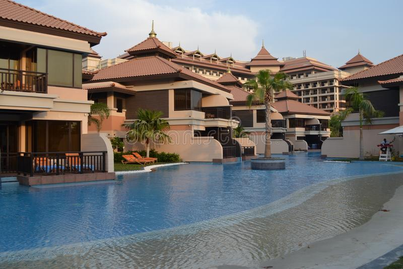 Hotels in Doubai stock foto's