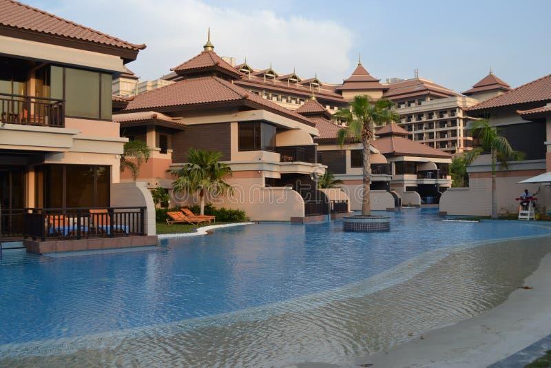 Hotels in Dubai stockfotos