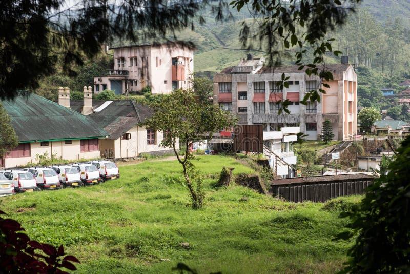 Hotels en Woonplaatsen in Munnar royalty-vrije stock foto's