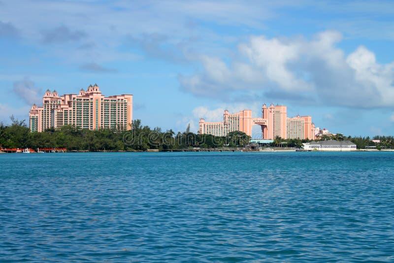 Hotels in Nassau royalty-vrije stock afbeeldingen