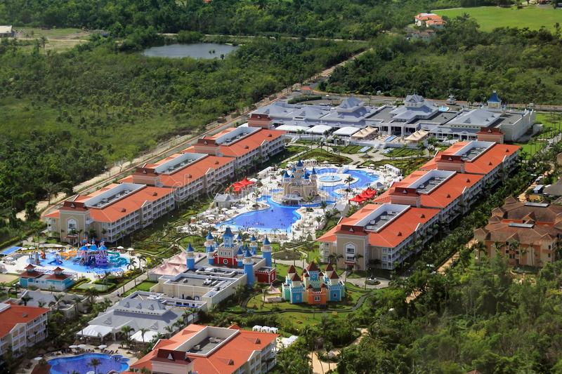 Hotels in Punta Cana Dominicaanse Republiek stock afbeelding