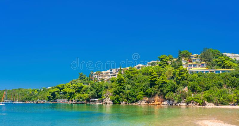 Hotels in the resort area. Of the Italian coast stock image