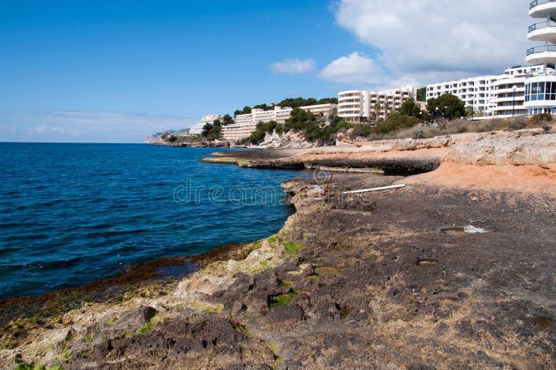 Hotels von Sankt Ponsa, Majorca, Spanien lizenzfreie stockfotos