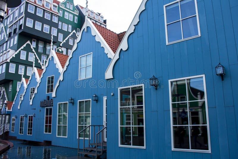 Hotels in Zandaam royalty-vrije stock afbeeldingen