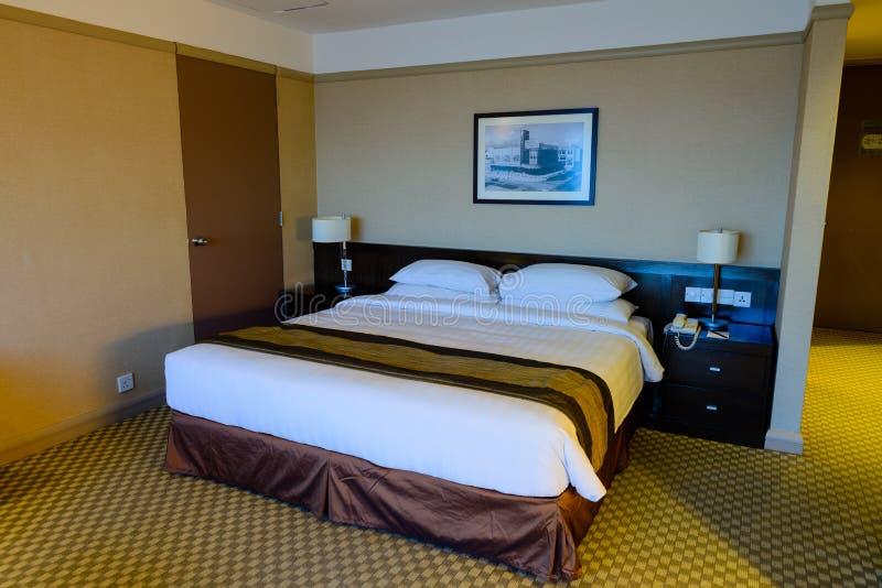 Hotelschlafzimmer stockbild