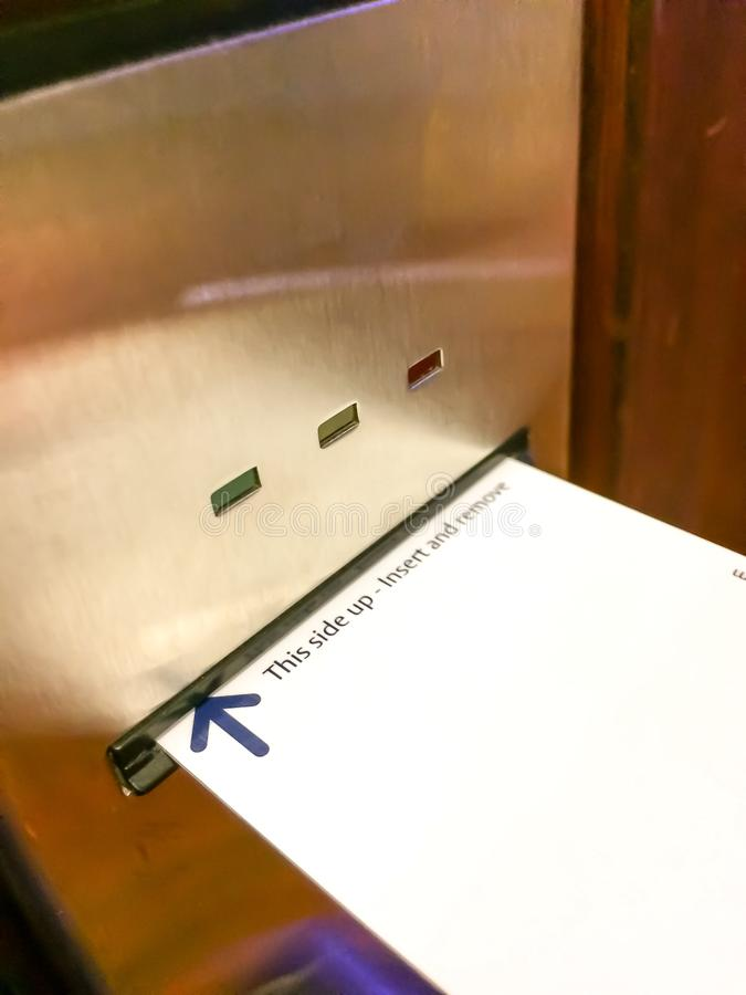 Hotelsleutel stock afbeelding