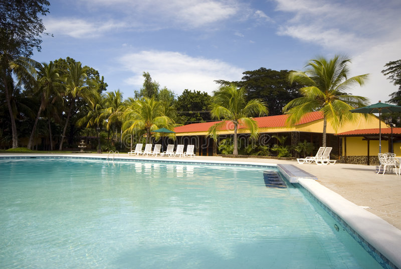 HotelSwimmingpool stockfoto