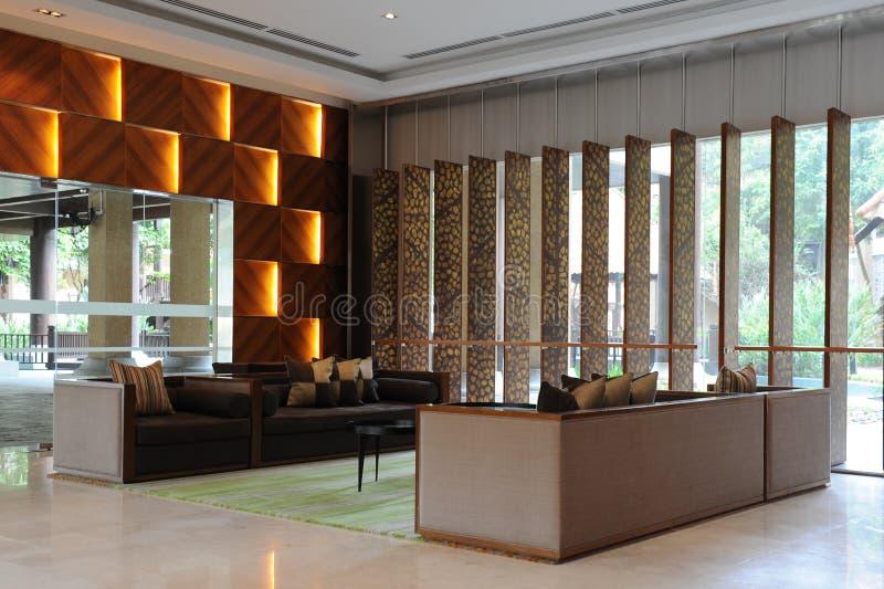 hotelu lobby fotografia stock