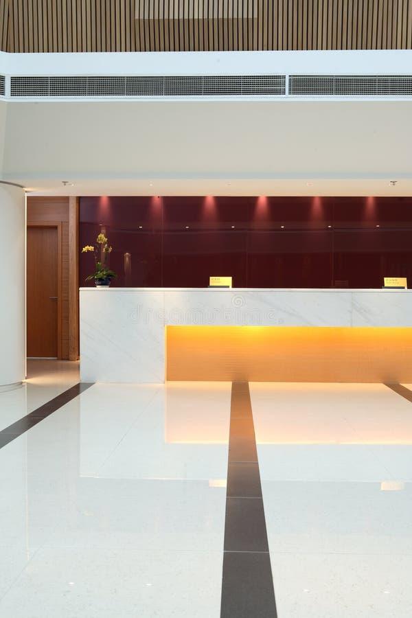 hotelu lobby obraz stock