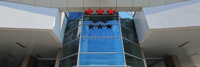 Hotelu trzy gwiazdy fotografia stock