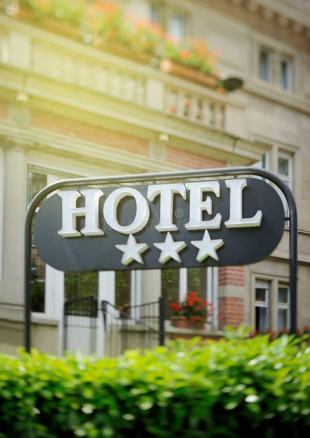 Hotelu znaka Trzy gwiazdy obraz royalty free