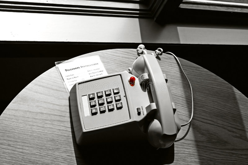 Hotelzimmertelefon lizenzfreies stockfoto