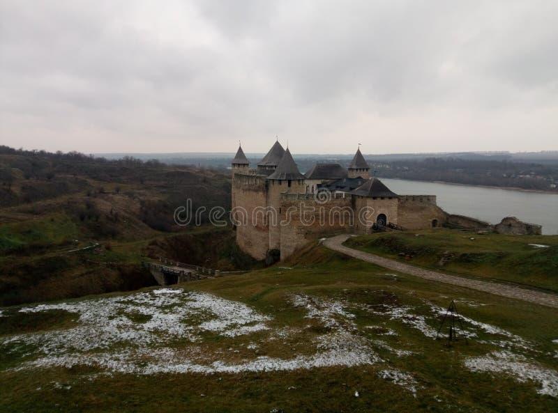 Hotinsky fortress royalty free stock photos