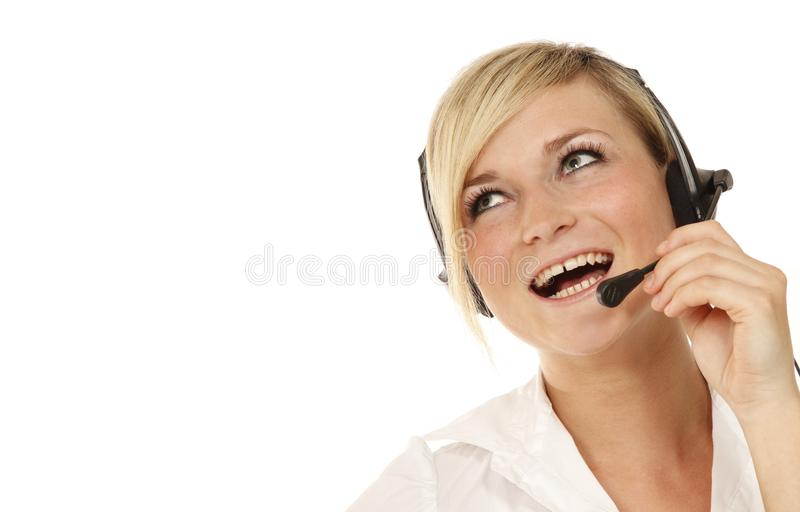 Download Hotline girl look up stock image. Image of corporate - 14745535