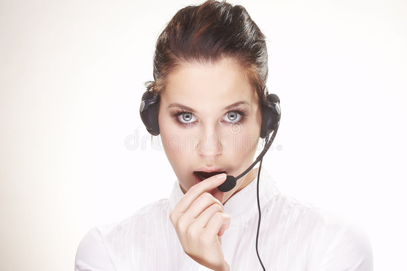 Hotline operator royalty free stock photos