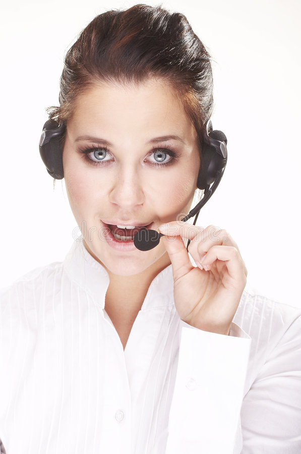 Hotline operator royalty free stock images